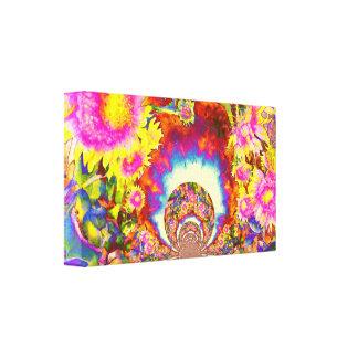 Sunflower Fields Forever - mandala Canvas Print