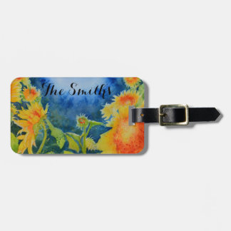 Sunflower Field's Forever Monogram Tag For Luggage