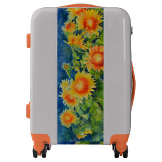 Sunflower fields forever -morning mist luggage