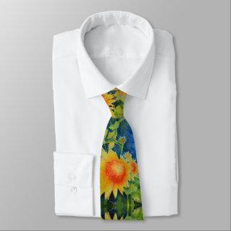 Sunflower fields forever neck tie