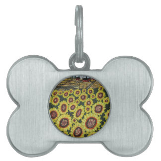 Sunflower Fields Forever Pet ID Tag