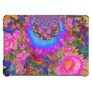 Sunflower fields forever - pink cover for iPad air