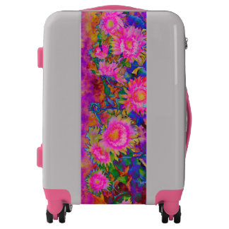 Sunflower fields forever -pink luggage