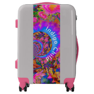 Sunflower fields forever -pink-momogramed luggage