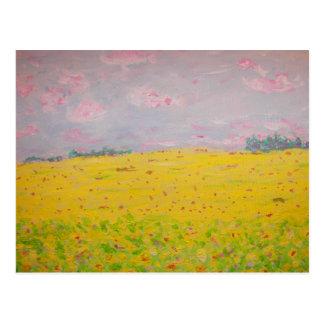sunflower fields forever postcard