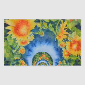 Sunflower Fields Forever Rectangular Sticker