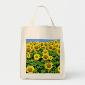 Sunflower Fields Grocery Tote Bag