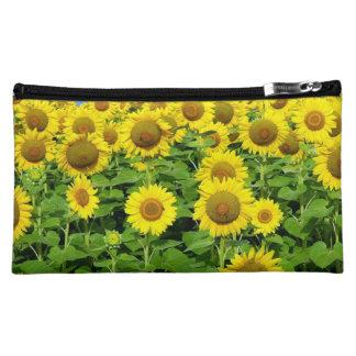 Sunflower Fields Makeup Bag