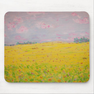 sunflower fields mouse pad