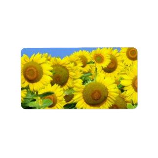 Sunflower Fields Personalized Address Label