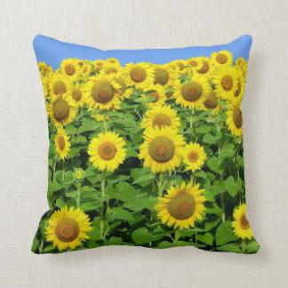Sunflower Fields Throw Pillows