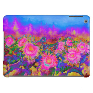 Sunflower fields - pink case for iPad air