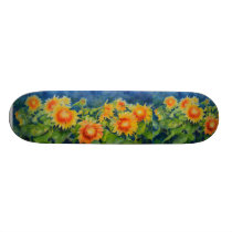 Sunflower Fields Skateboard