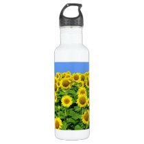 Sunflower Fields Stainless Steel Water Bottle