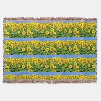 Sunflower Fields Throw