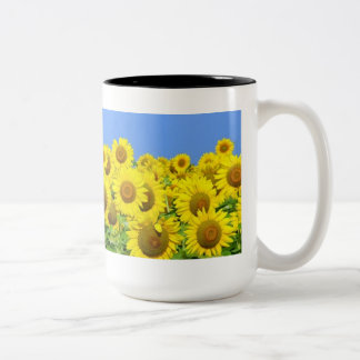 Sunflower Fields Two-Tone Coffee Mug