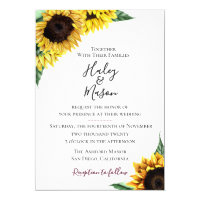 Sunflower Fields Wedding Invitation