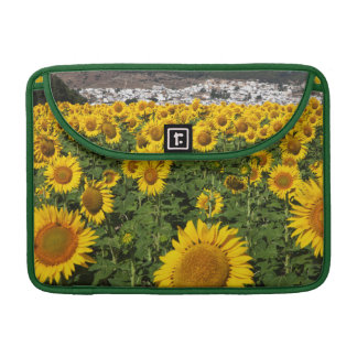Sunflower fields, white hill town of Bornos MacBook Pro Sleeve