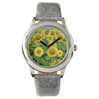 Sunflower Fields Wrist Watch
