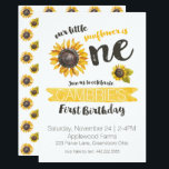 "Sunflower First Birthday Invitation<br><div class=""desc"">Celebrate your little one&#39;s first birthday with this cute ONE Sunflower theme.</div>"