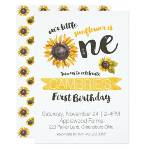 Sunflowers Invitations Announcements Zazzle