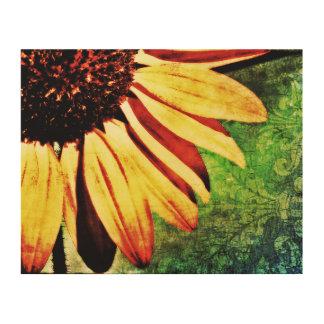 Sunflower, Fleur De Lis Brocade Wood Wall Decor