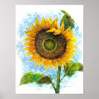 Sunflower Flora Painting - Multi Poster