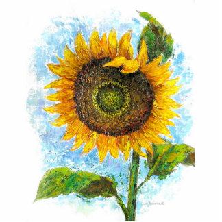 Sunflower Flora Painting - Multi Statuette