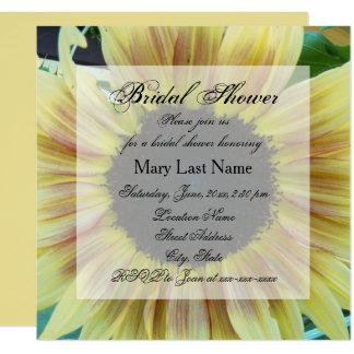 Sunflower Floral Bridal Shower Invite