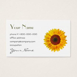Sunflower Floral Business Card