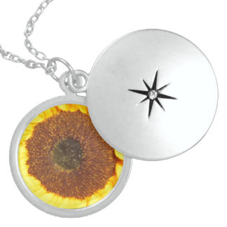 Sunflower Floral Nature Flower Sterling Silver Necklace