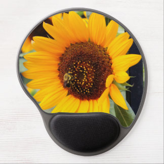Sunflower Floral Photo Gel Mouse Mat