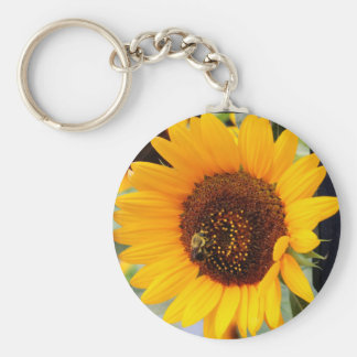Sunflower Floral Photo Key Chains
