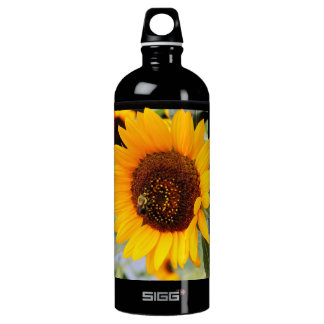 Sunflower Floral Photo Water Bottle