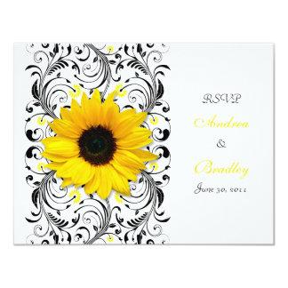 Sunflower Floral Response Card
