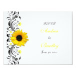 Sunflower Floral Response Card Invite