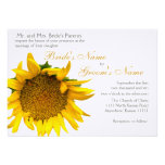 Sunflower Floral Wedding Personalized Invitation