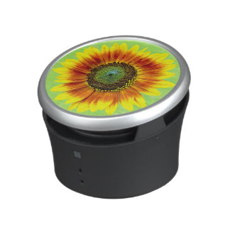 Sunflower Floral Yellow and Green Flower Garden Speaker
