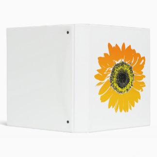 Sunflower Flower Art Design 3 Ring Binder