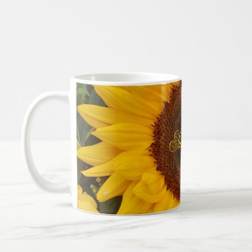 Beach Themed Sunflower Flower Floral Photography Mug