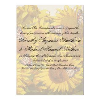 Sunflower Flower Floral Wedding Invitation