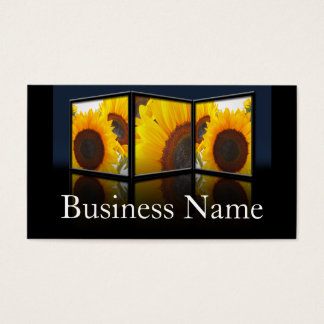 Sunflower Flower Frame Business Card