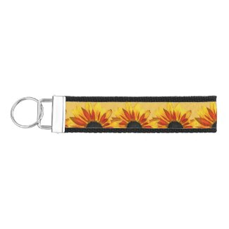 Sunflower Flower Garden Wrist Keychains