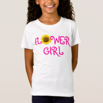 Sunflower Flower Girl T-Shirt
