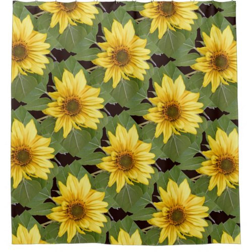 Sunflower Flowers Floral Collage Shower Curtain
