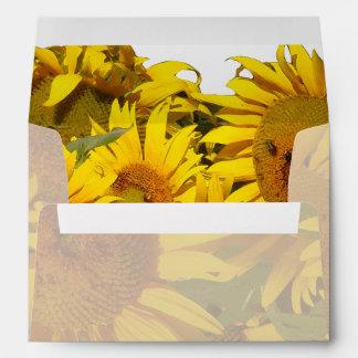 Sunflower Flowers Floral Garden Envelope