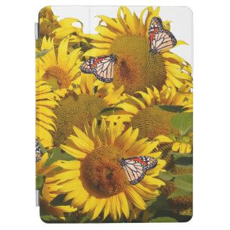 Sunflower Flowers Monarch Butterfly Floral Gardene iPad Air Cover