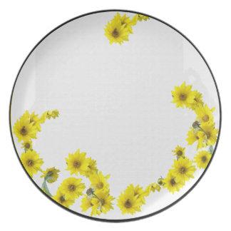 Sunflower Flowers Plate