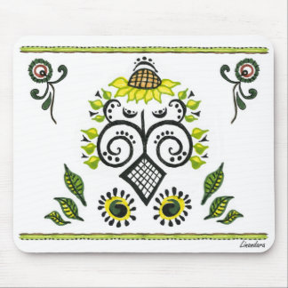 Sunflower Folk Pattern by Alexandra Cook Mouse Pad