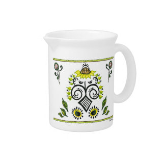 Sunflower Folk Pattern by Alexandra Cook Pitcher